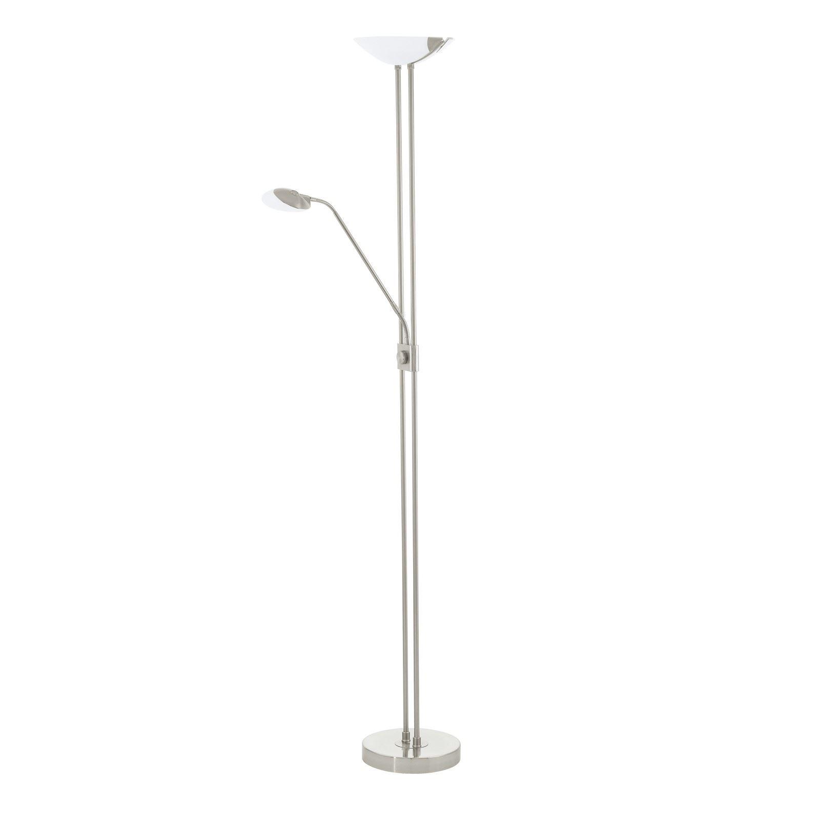 Baya Led Floor Lamp 5 Years Warranty Satin Nickel Finish