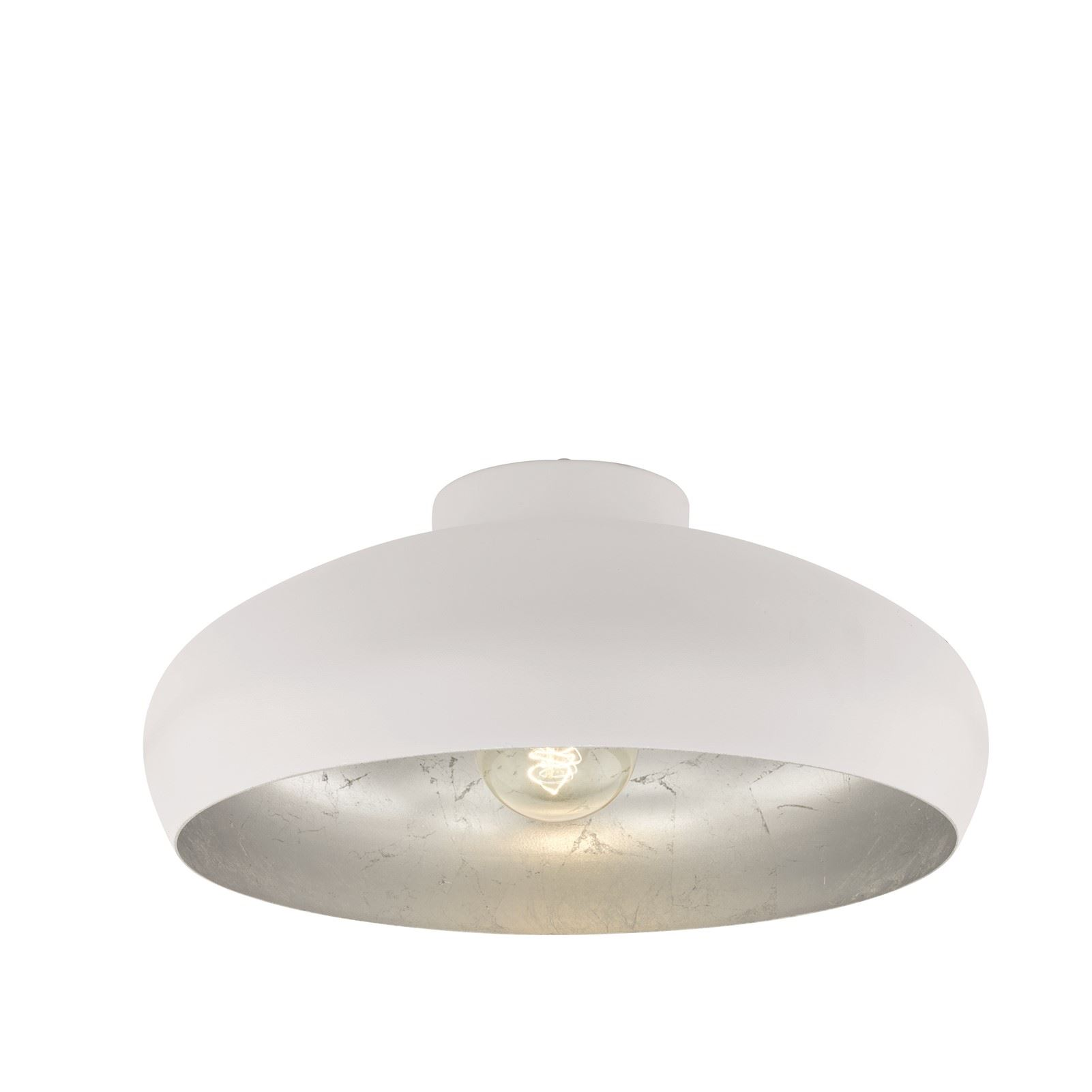 Mogano 1 Ceiling Light E27 White, Silver Without Switch