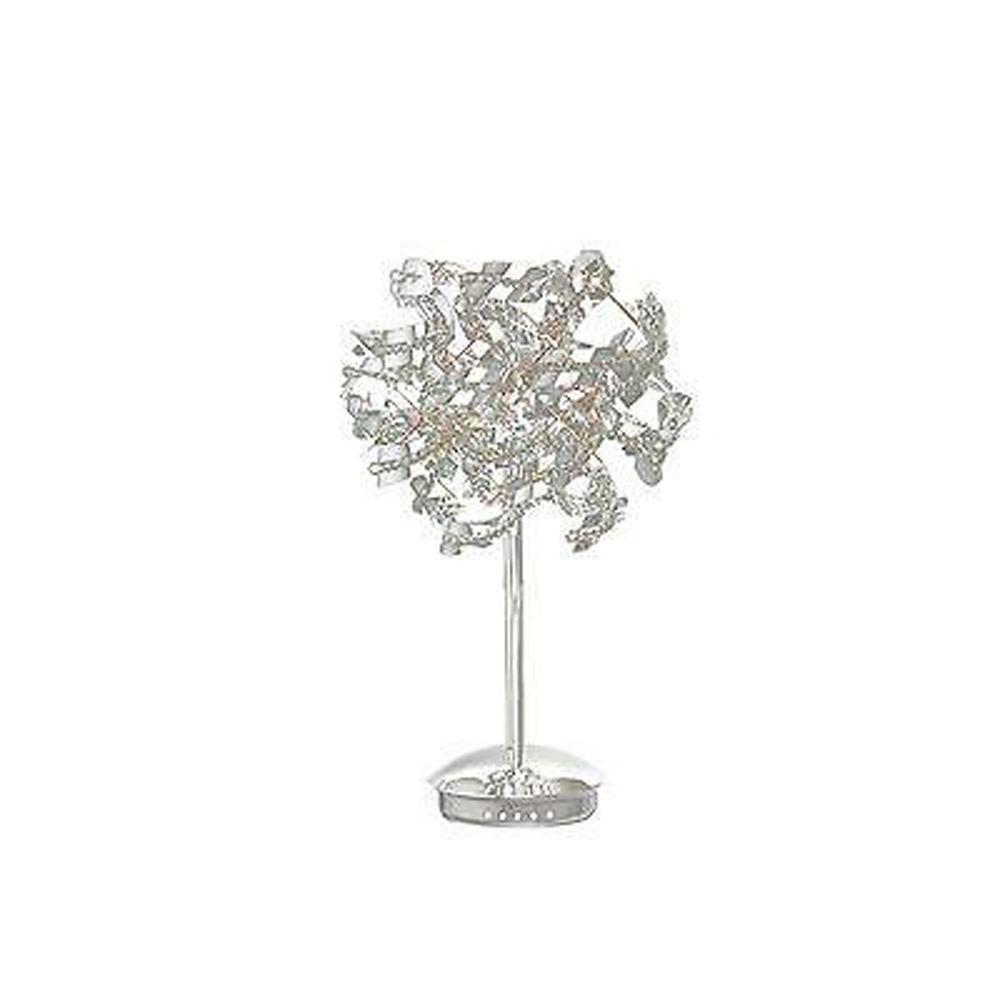 Stunning Designer Table Lamp 5 Light Polished Chrome/Crystal