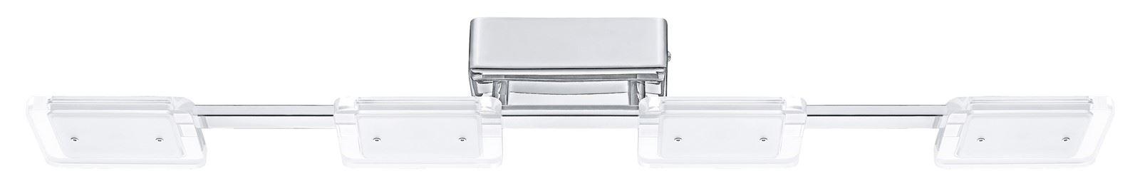 Cartama LED Ceiling Light 4x4.5W Steel Chrome Clear Satin Finish