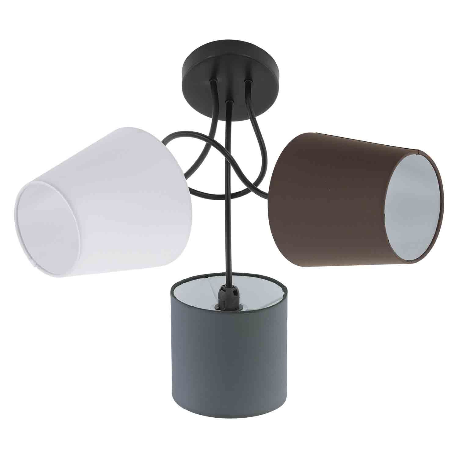 ALMEIDA Ceiling Light 3 Light Black