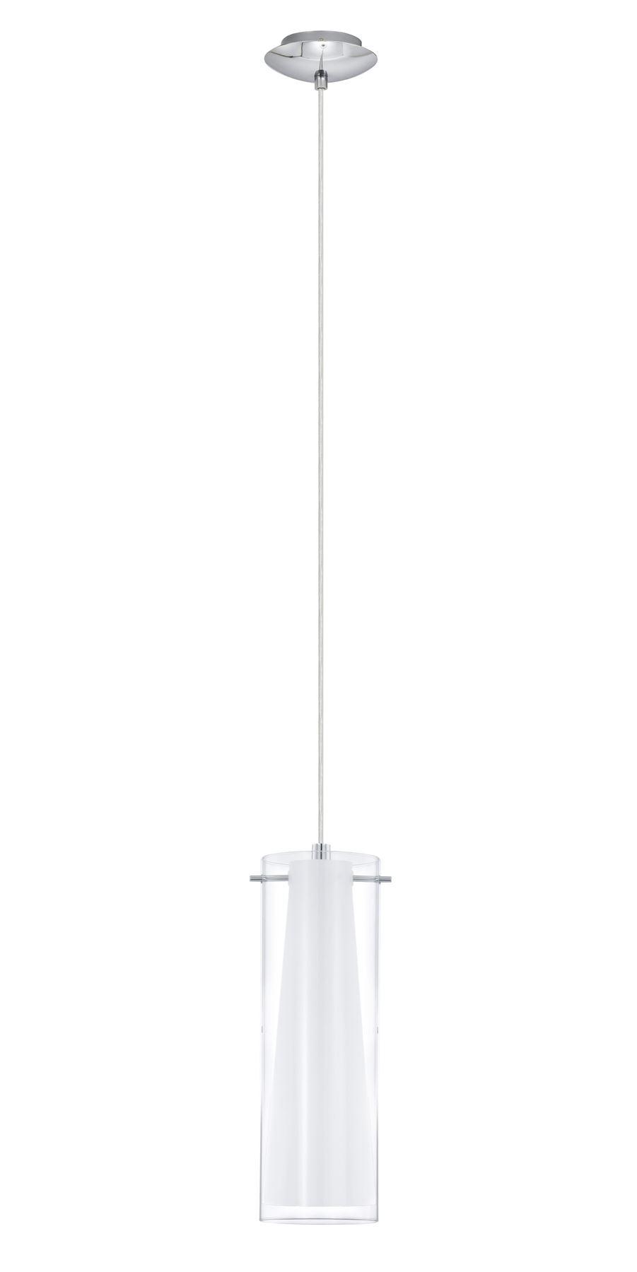 Pendant Lamp Pinto 1 Light E27 Height 1100 mm Chrome And Glass