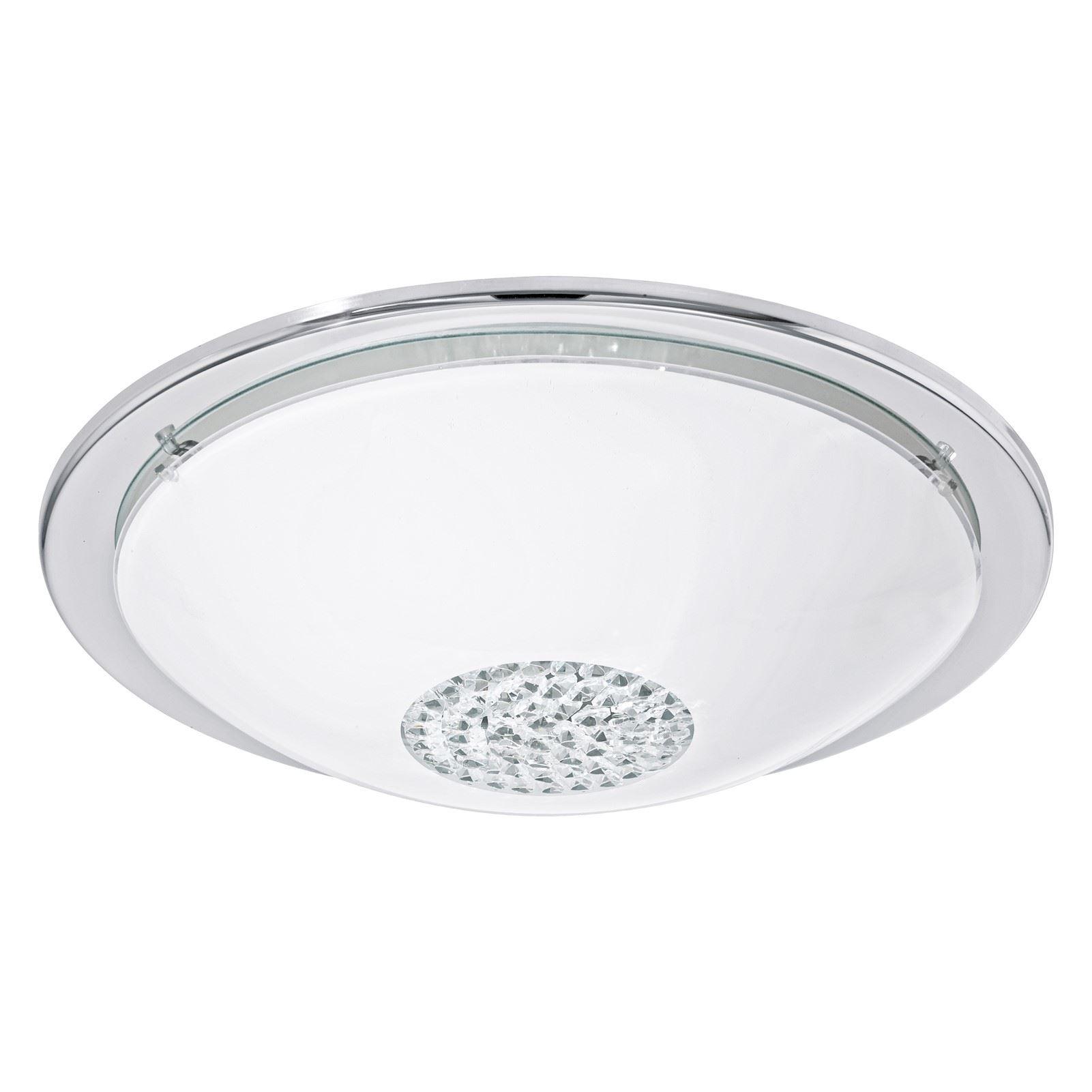 GIOLINA LED-Ceiling Light Chrome Clear White Shade Crystal