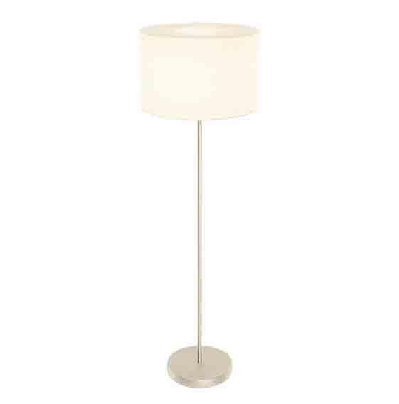 Romao Floor Lamp Led Fabric, Linen Shade Natural Shade