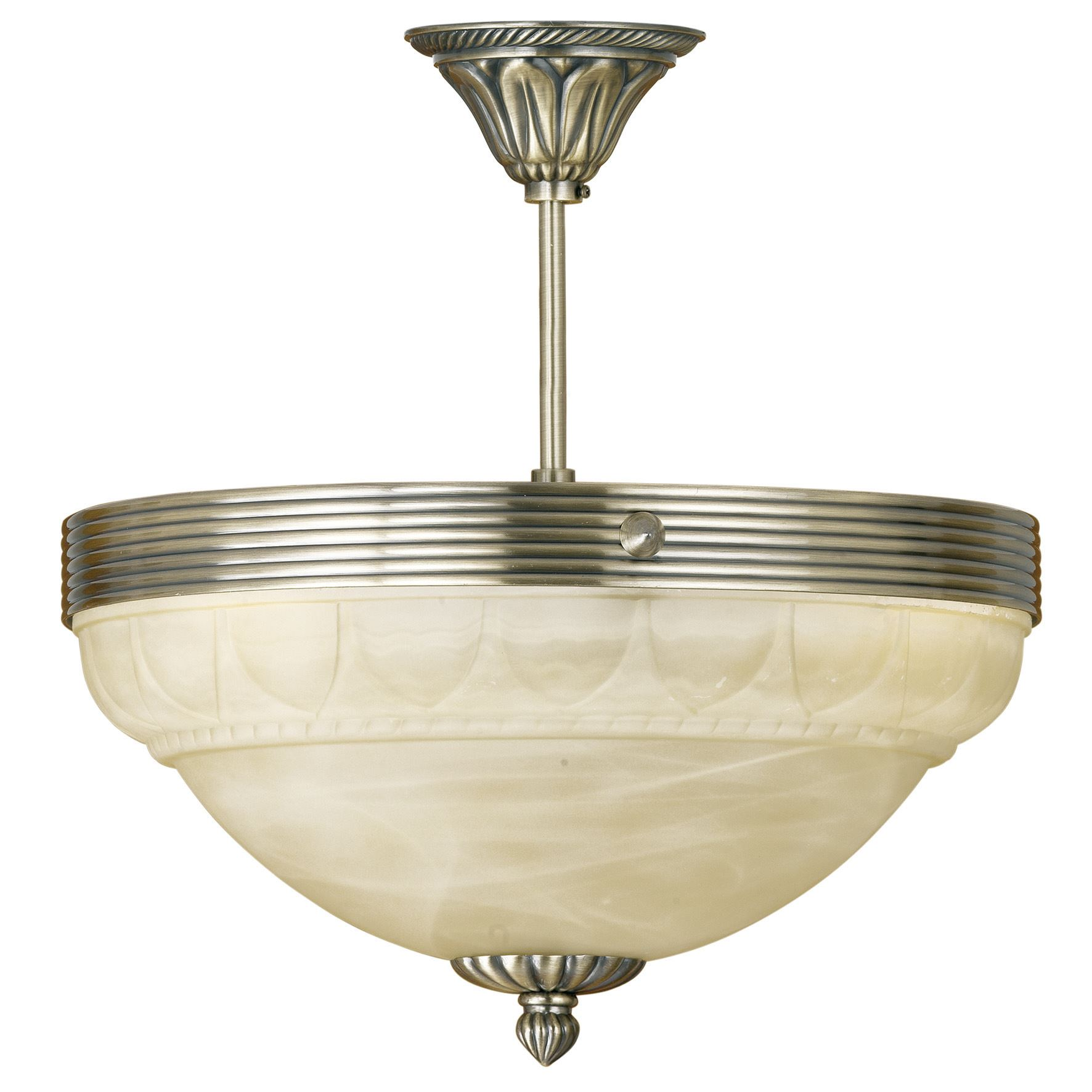 Semi Flush Light Bronze/Stunning Champagne Color Finish