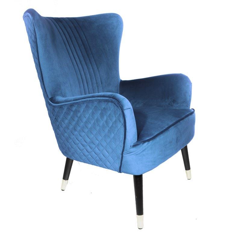 Wolsey Armchair Blue Velvet