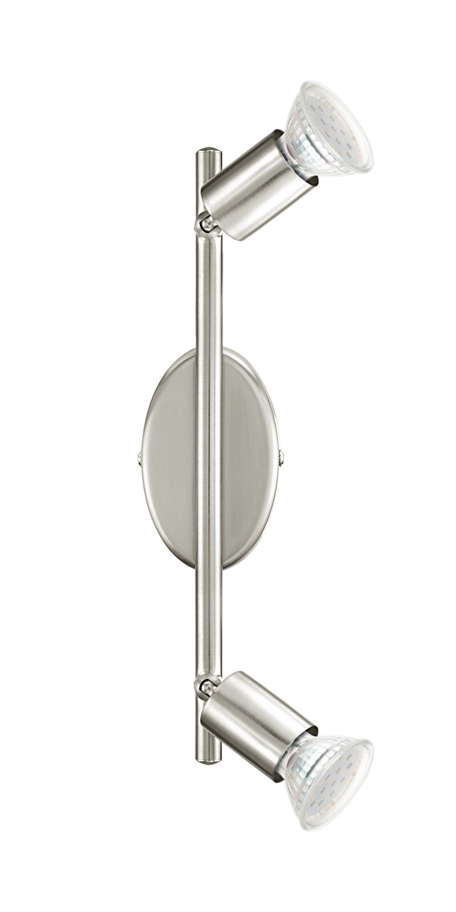Buzz LED Stylish 2 Light Satin Nickel Ceiling Spot Light