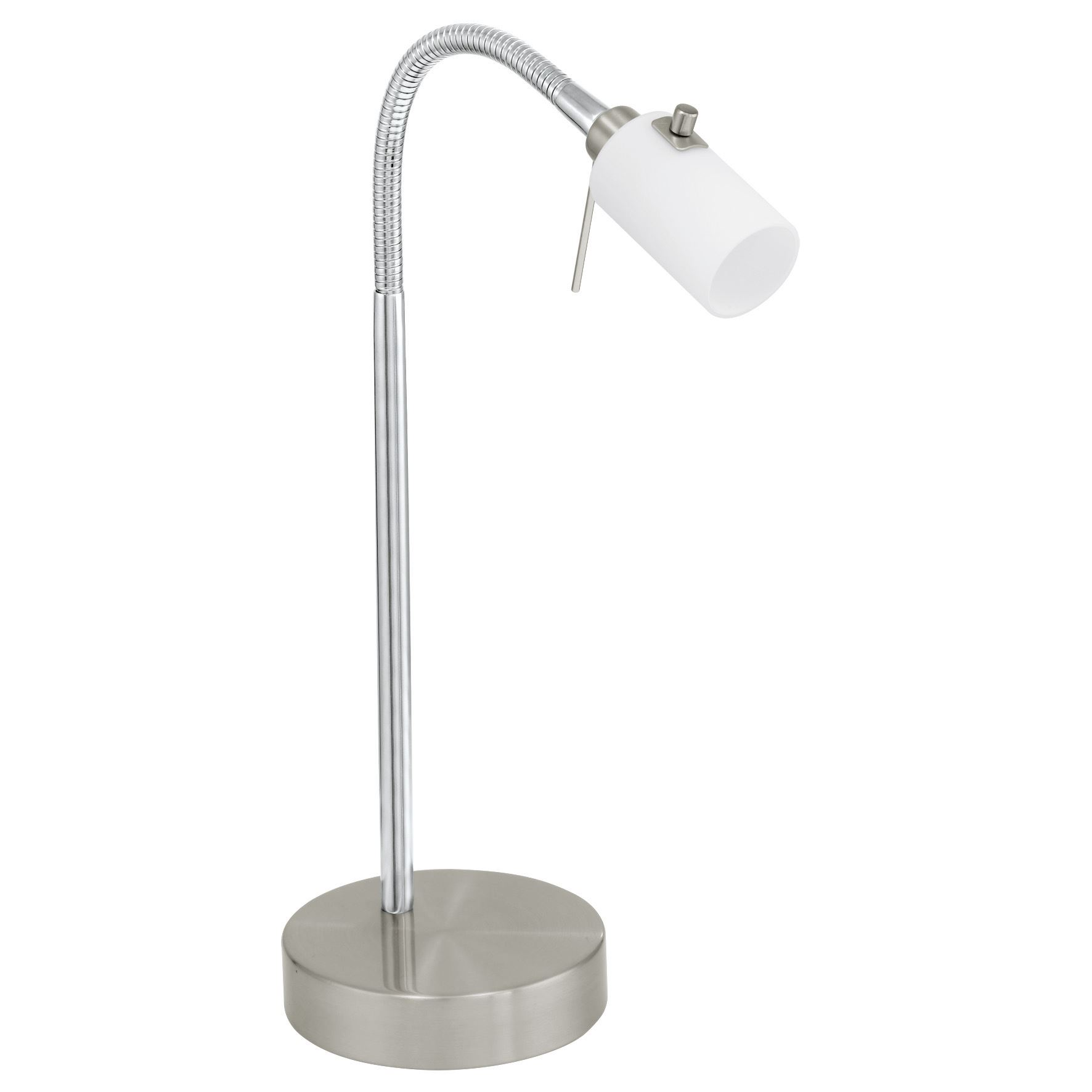 Benga Table Lamp Opal Glass White Shade 1 Light G9 Touchdimmer