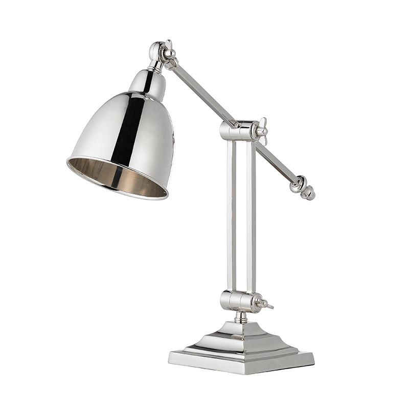 Jackson Twin Stem Base Only Table 40W Sw - Polished Nickel Plate
