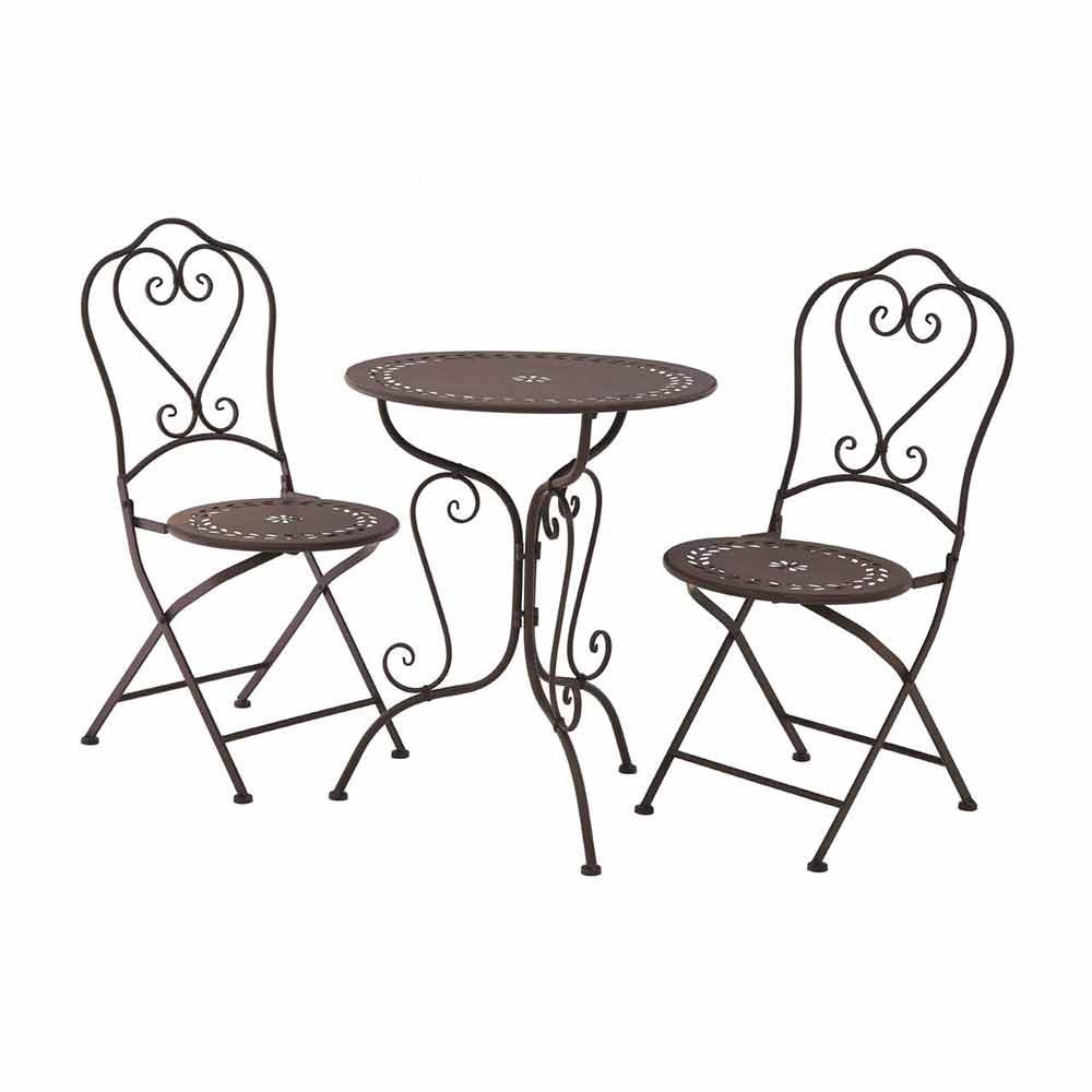 Finchwood Jardin 3Piece Antique Brown Table Set
