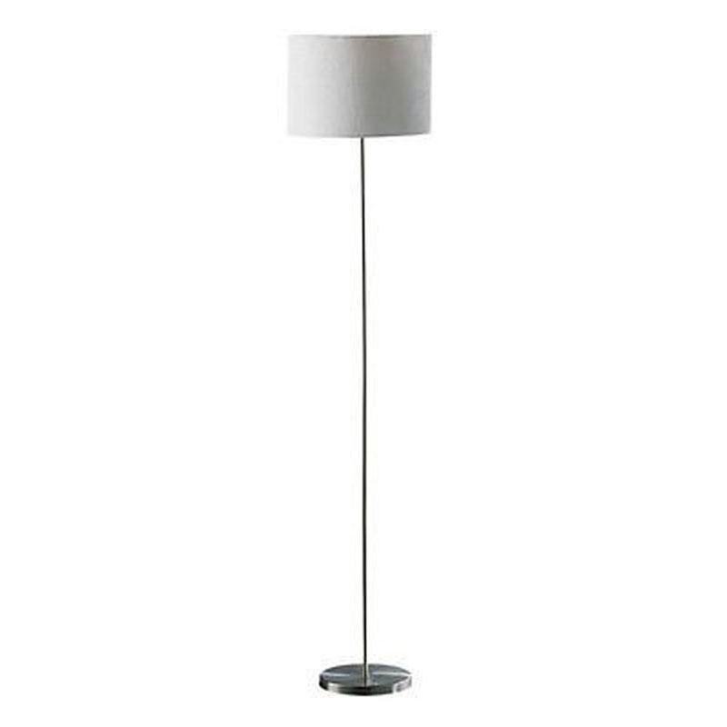 Forma Floor Lamp,Chrome Effect,Cream Waffle Effect Shade
