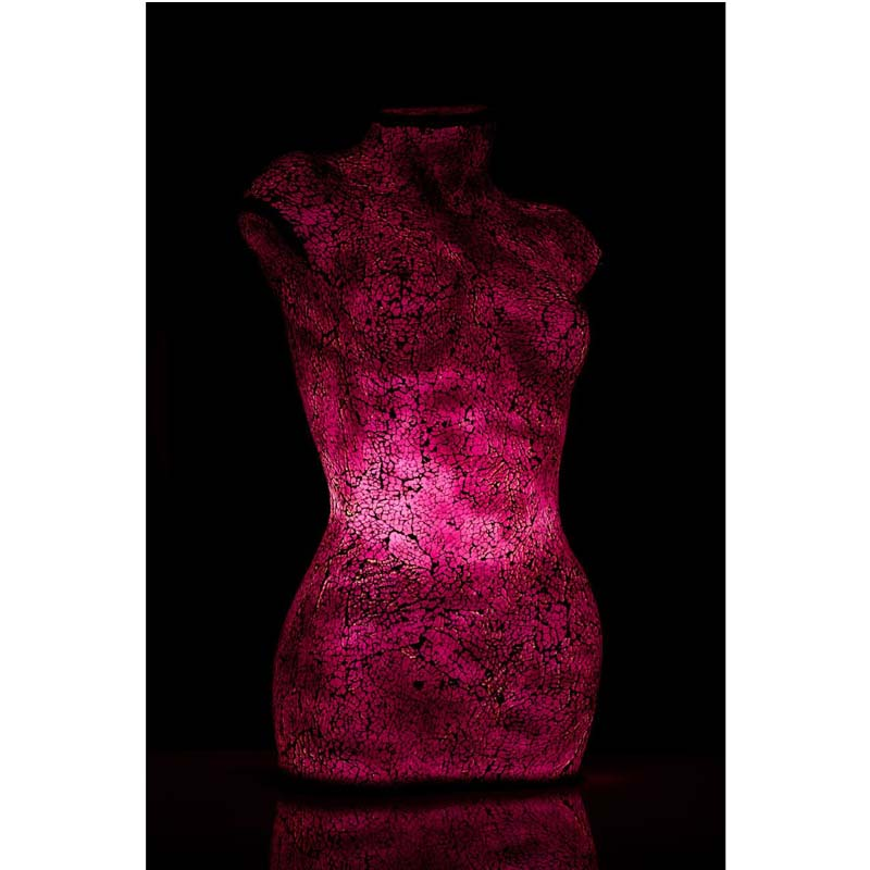 Body lamp,cerise mosaic,resin