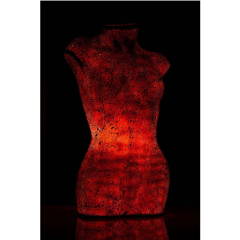 Body lamp,red mosaic,resin