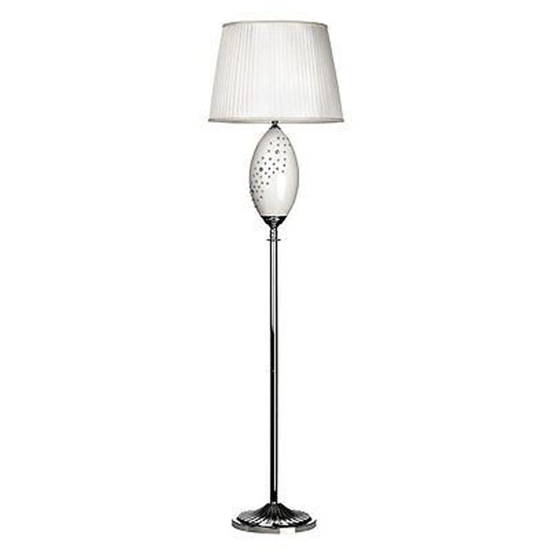 Maisy Floor Lamp, Ceramic/Crystal Detail, Fabric Shade