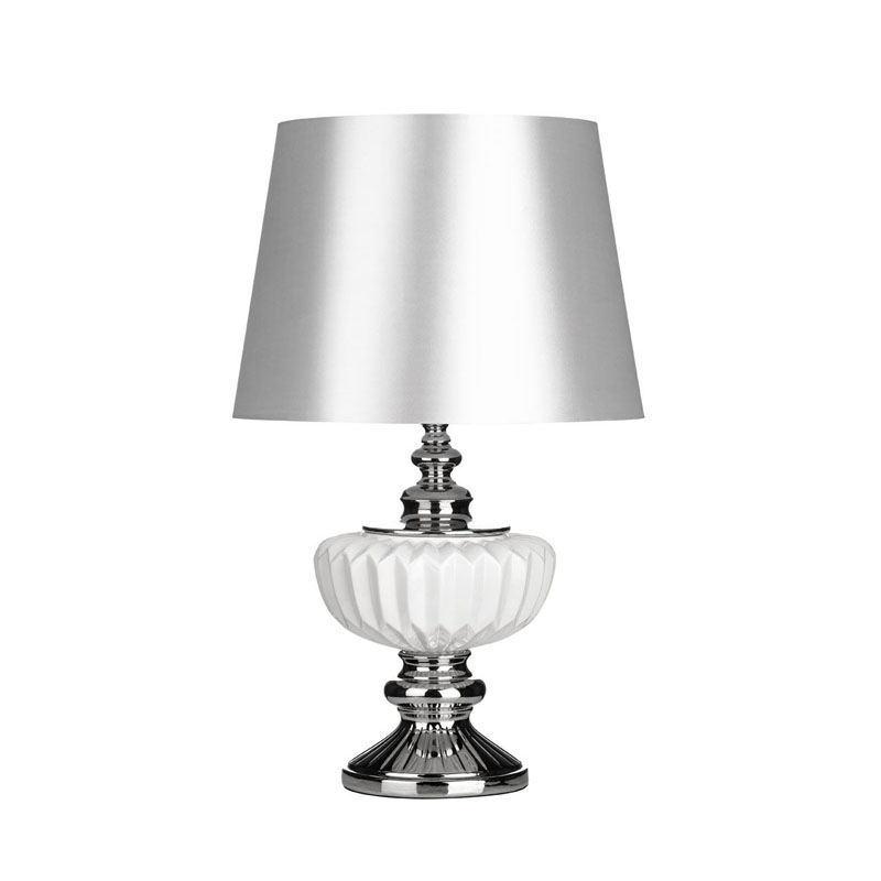 Luana Decorative White Ceramic Table Lamp With White Fabric Shade