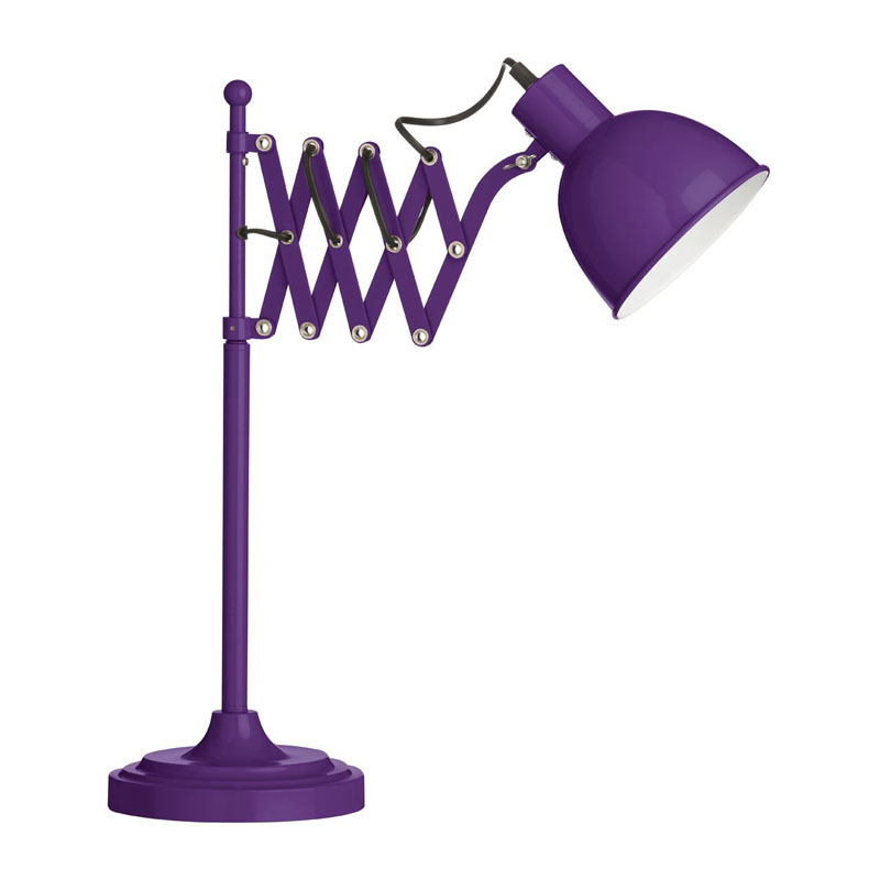Extendable Purple Table Lamp