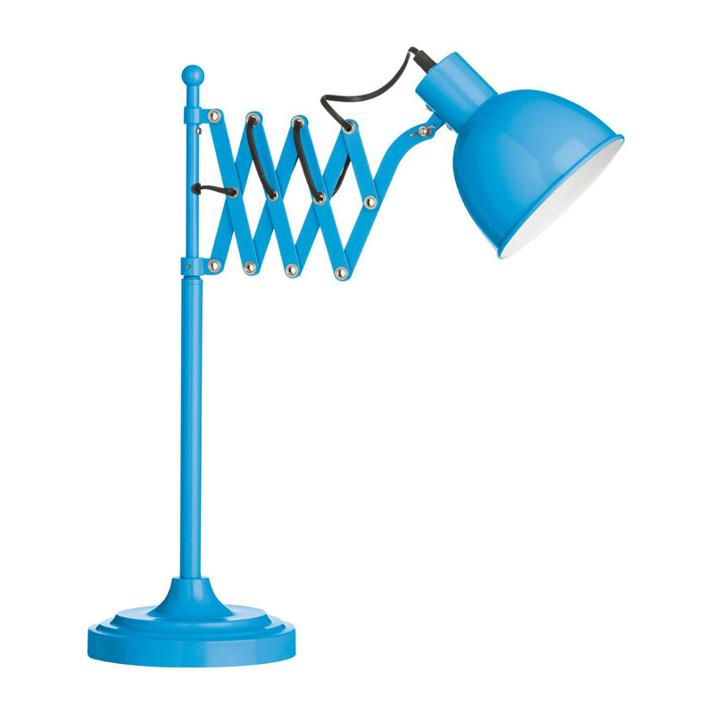 Table Lamp, Blue, Extendable