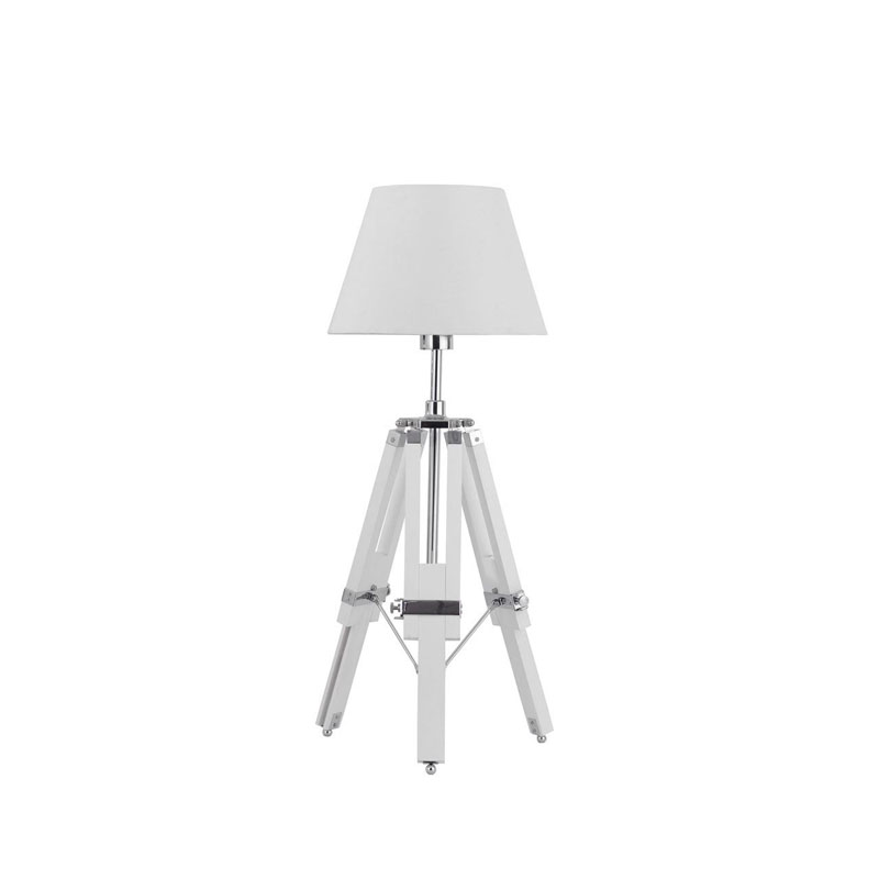 Contemporary Designer Tripod Base Striking White Feature Lamp