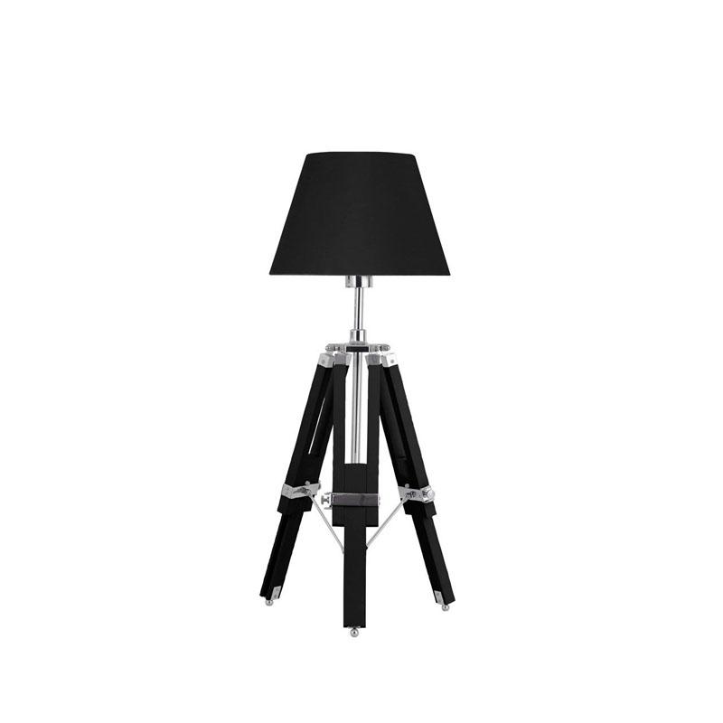 Striking Feature Lamp Tripod Base Black Contemporary Design