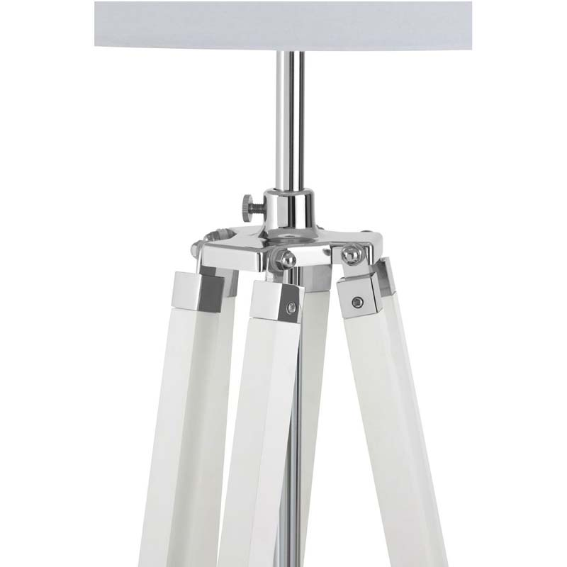 Floor Lamp, Tripod Base, White
