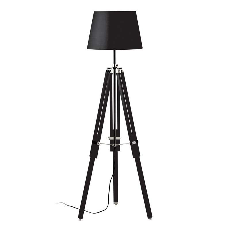 Floor Lamp, Tripod Base, Black