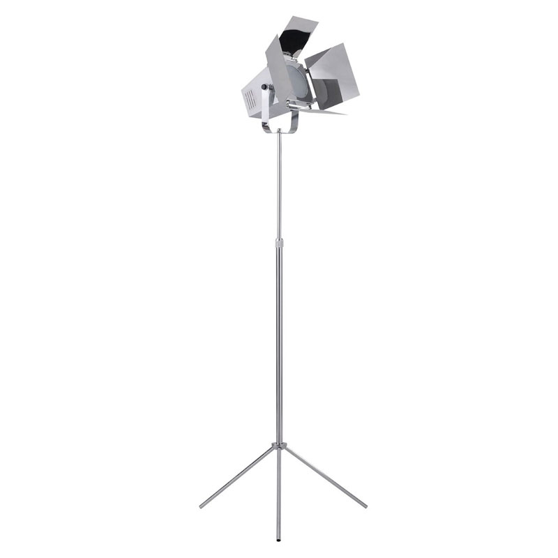 Spotlight Floor Lamp, Chrome