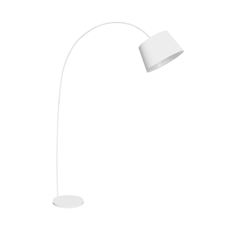 Floor Lamp,Arched,White Metal/Fabric Shade - Big Living