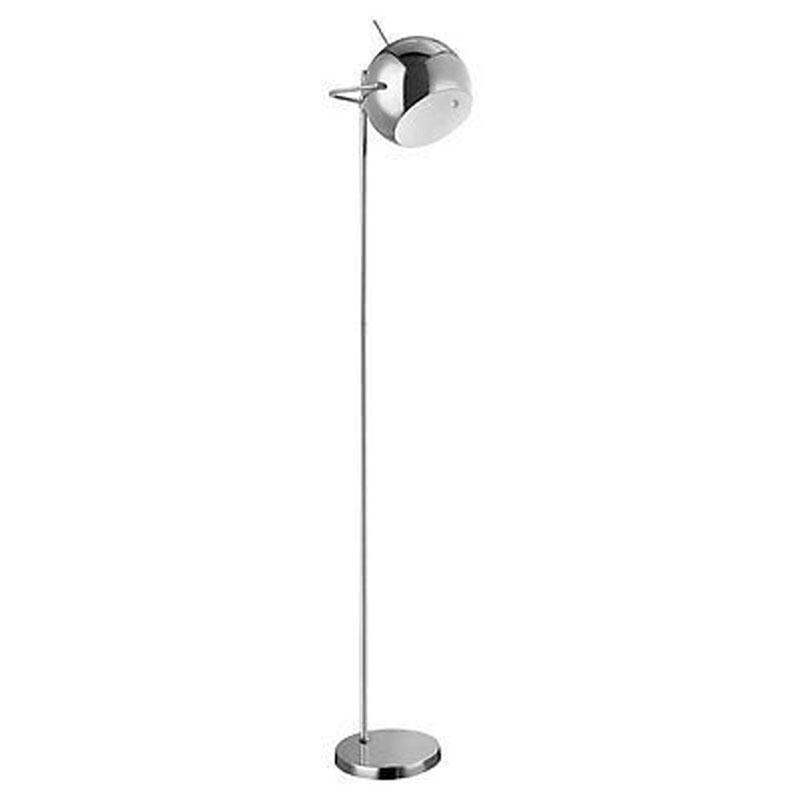 Floor Lamp,Chrome / White Inside
