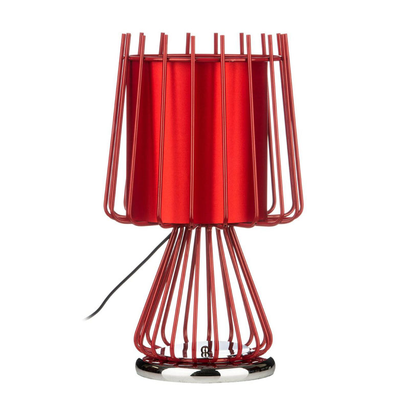 Aria Contemporary Table Lamp Red Color Finish Light Table Desk Lamp
