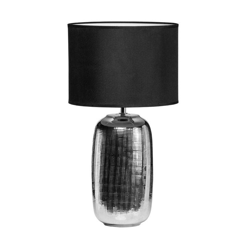 Regents Park Ceramic Table Lamp - Stunning Chrome Finish