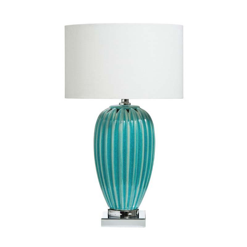 Apus Table Lamp Blue Ceramic Base - Contemporary Style