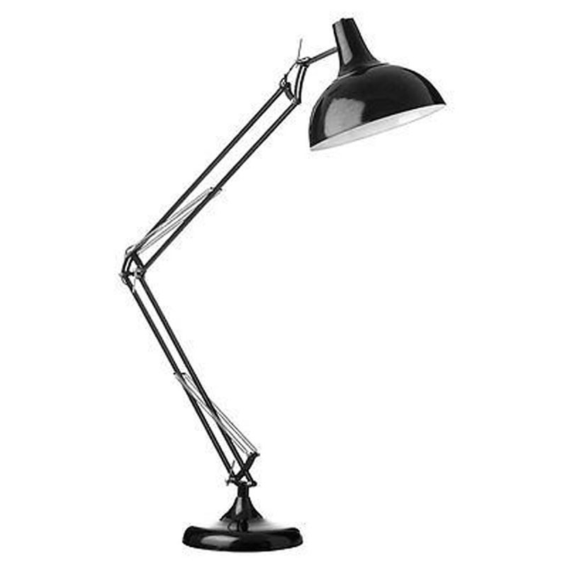 Study Floor Lamp,Black Metal,Fully Adjustable