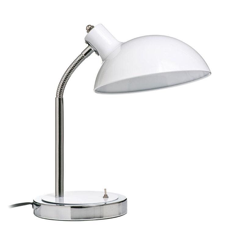 Flexible Desk Lamp, Metal, White