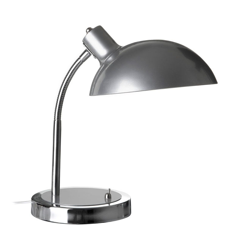 Flexible Desk Lamp, Metal, Silver