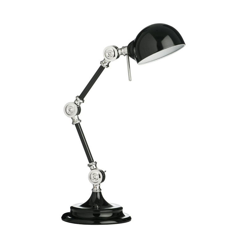 Library Adjustable Desk Lamp,Metal,Black