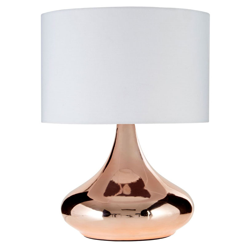 Jaden Copper Ceramic Table Lamp With Ivory Shade
