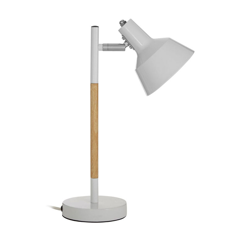 Bryson White Metal / Wood Table Lamp