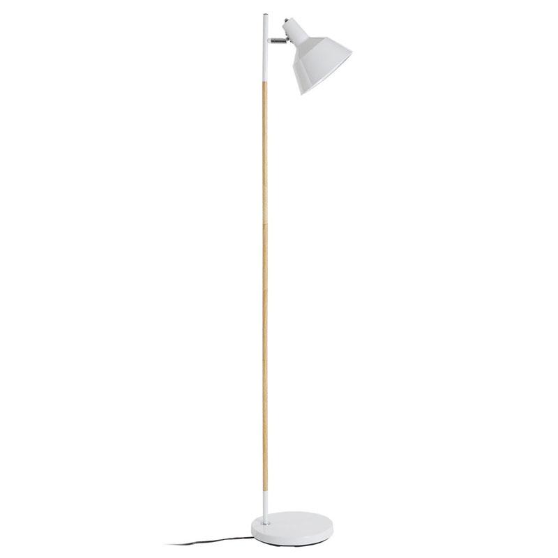 Bryant Floor Lamp, Wood / Metal, White
