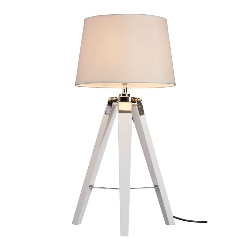 Bailey Tripod White Wooden Table Lamp