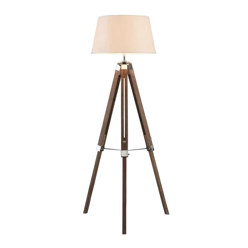 Bailey Floor Lamp, Brown / Tripod
