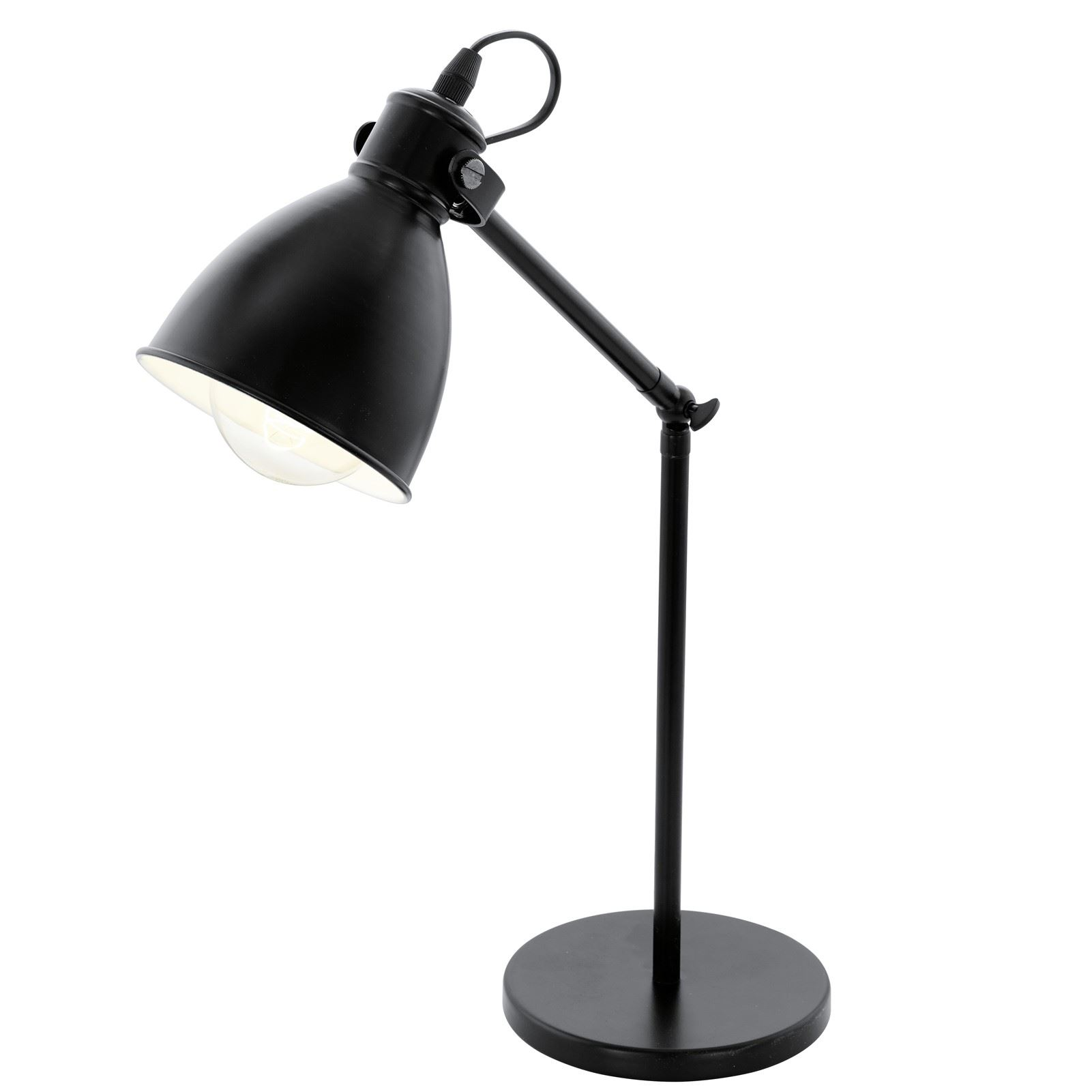 Priddy Table Lamp 1 Light E27 Black