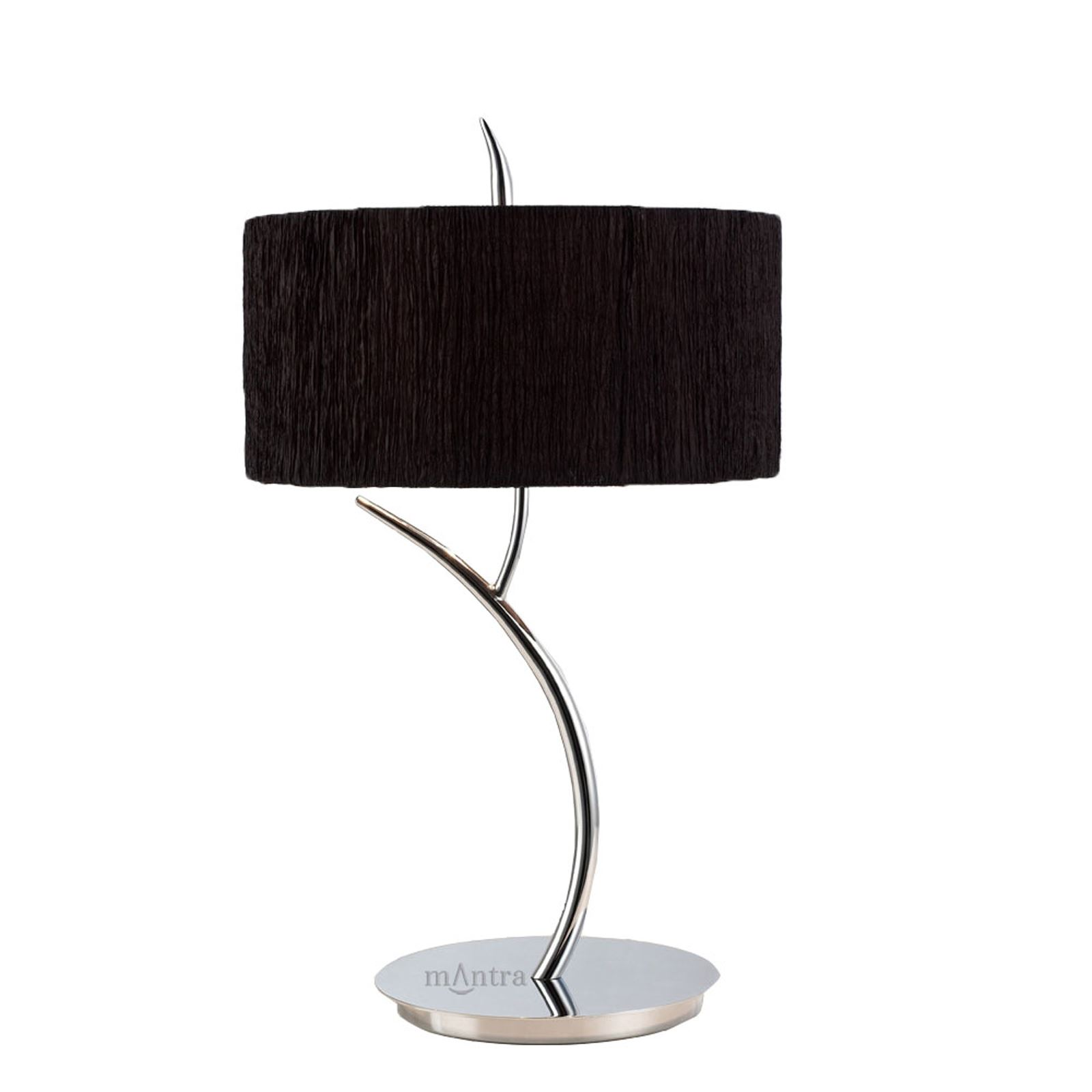 Stunning Bedside Table 2 Light Polished Chrome With Black Shade