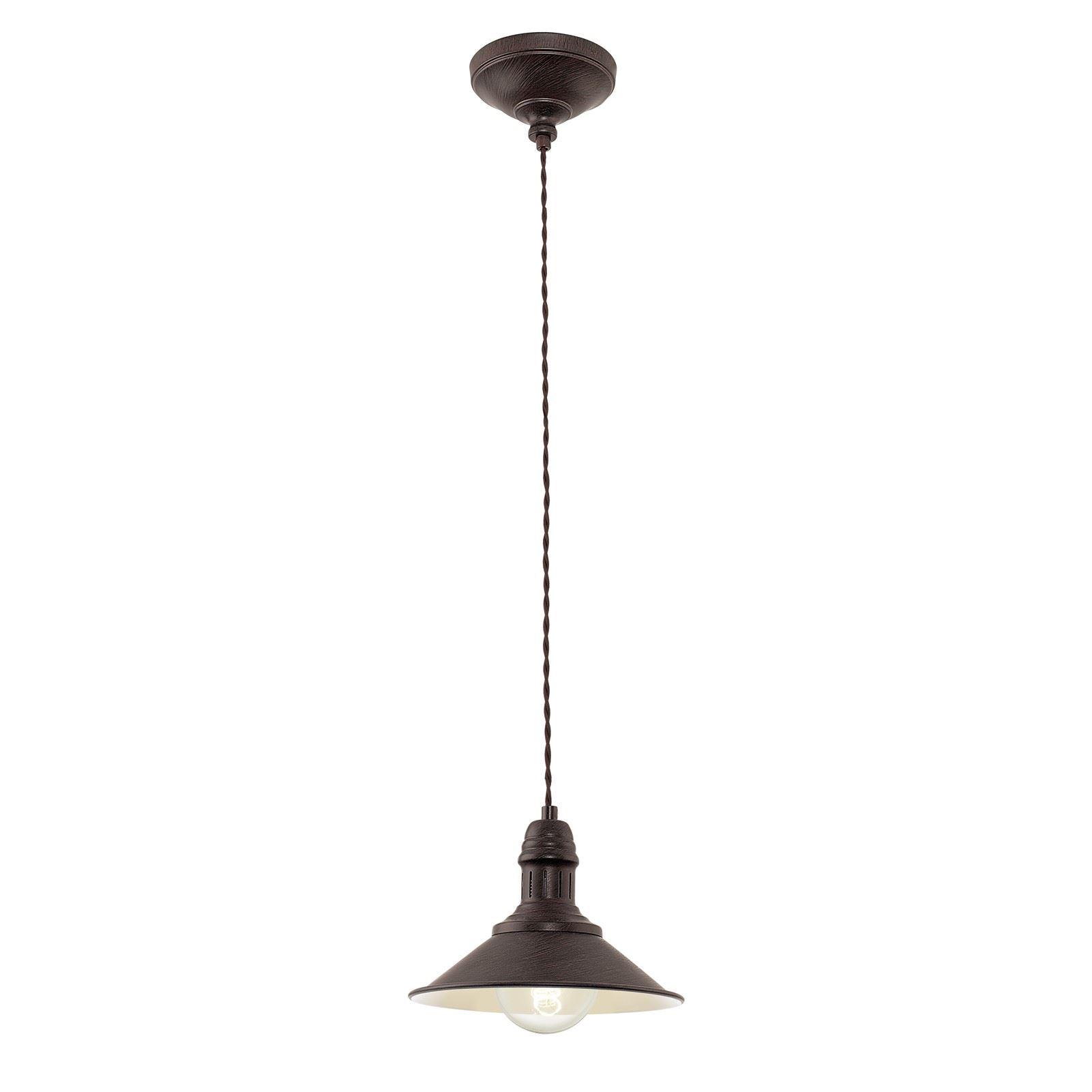 Stockbury Hanging Lamp E27 Antique-Brown-Beige Diameter 210 Mm