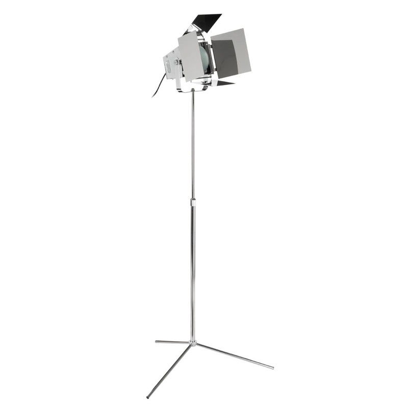 Spotlight Floor Lamp, Chrome, Eu Plug