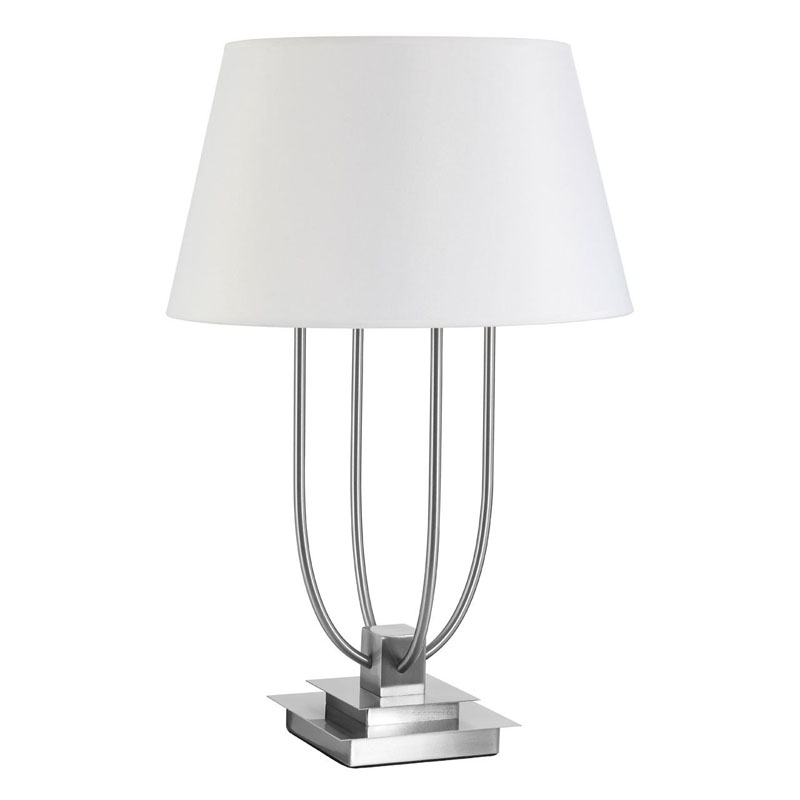 Regents Park Table Lamp, Satin Nickel, Eu Plug
