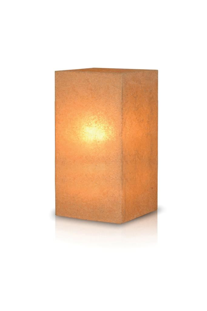 Stone Tall Pedestal Lamp