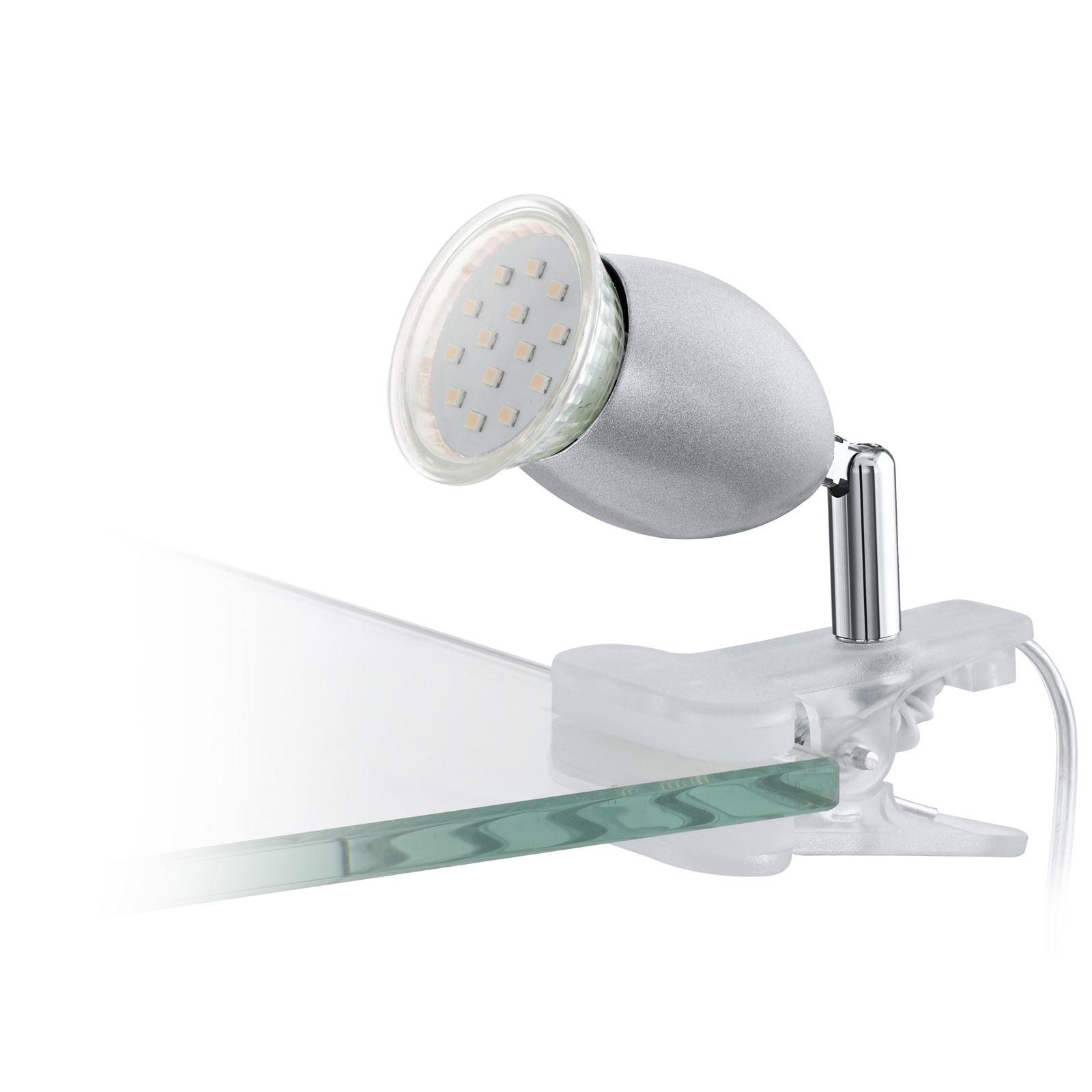 Banny Stylish Clip Lamp 1 Gu10 Light With Shiny Silver Finish