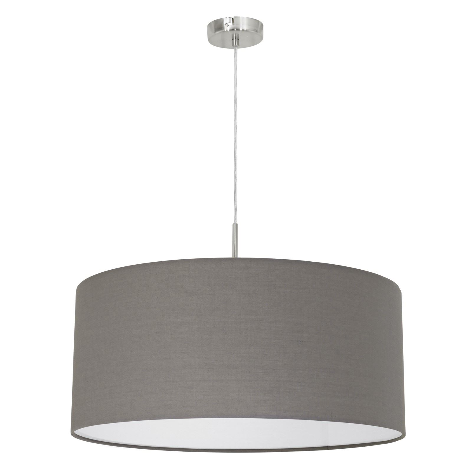 Pasteri Hanging Pendant Light Pendant Lamp Fabric Matt Brown Shade