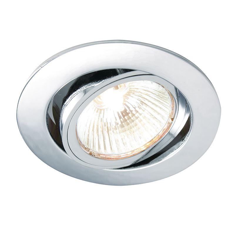 Cast tilt 50W recessed light chrome plate