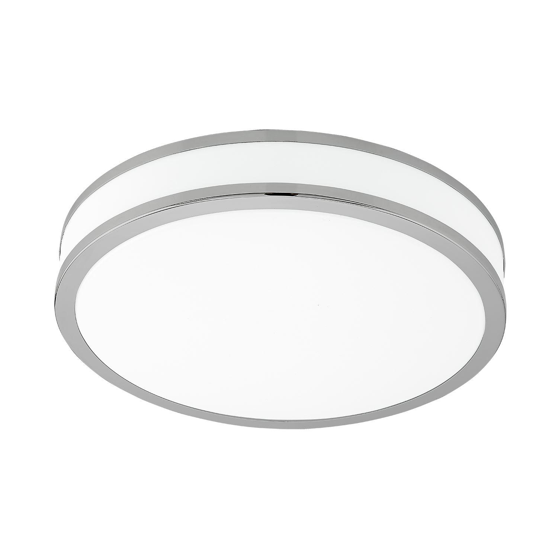 Palermo Led Ceiling Light Steel Warm White Dia 280mm Light Chrome